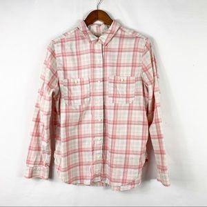LEVI'S Boyfriend Fit Long Sleeve Plaid Shirt - L
